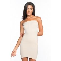 Стягаща и оформяща рокля без презрамки