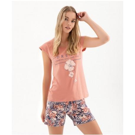 Дамска пижама с апликация Dream