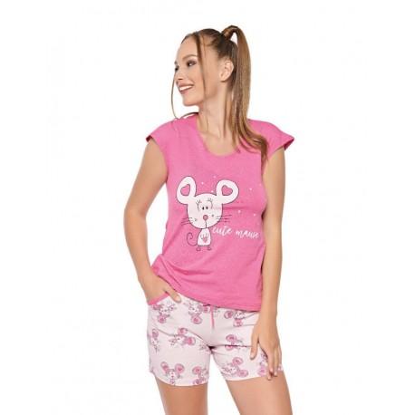 Дамска пижама с апликация Maus