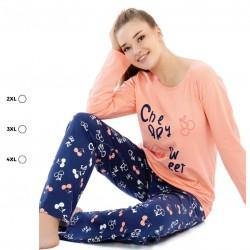 Дамска пижама Cherry Sweet - 4XL