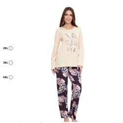 Дамска пижама Голям размер - 3XL - 4XL