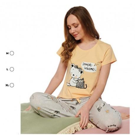 Дамска пижама с апликация Sempre Insieme